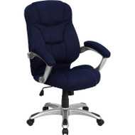Flash Furniture High Back Navy Microfiber Contemporary Office Chair - GO-725-NVY-GG