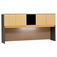 "Bush Business Furniture Series A Hutch 72"" Beech - WC14373P"