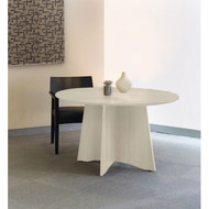 Mayline Medina Laminate Conference Table Round Textured Sea Salt Finish  - MNCR48TSS