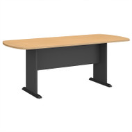 Bush Business Furniture Series A & C 79W x 34D Racetrack Oval Conference Table in Beech - TR14384A