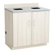 Safco Hospitality Base Cabinet, Waste Receptacle , Vanilla Stix/Gray- 1704VS