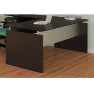 "Mayline Medina Laminate Executive Desk Straight 63"" Mocha - MNDS63-LDC"