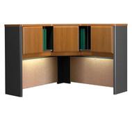 """Bush Business Furniture Series A Corner Hutch 48"""" Natural Cherry - WC57467PK"""