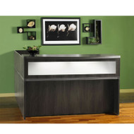 Mayline Aberdeen Reception Desk L-Shaped with two Pedestal File Drawers Gray Steel - ABEPackage4-LGS