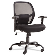 Alera Merix Series Mesh Big and Tall Mid-Back Swivel Tilt Chair, Black - MX4517