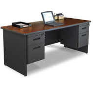 Marvel Double Pedestal Steel Desk 72 x 30 - PDR7230DP