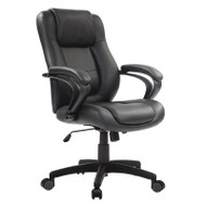 Eurotech by Raynor Pembroke Black Leather Manager Chair - LE522