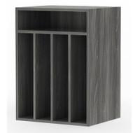 Mayline Aberdeen Paper Management Vertical Gray Steel - AVPM-LGS