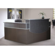 "Mayline CSII 72"" Reception Desk L-Shaped with Double Pedestal - CST27"