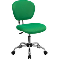 Flash Furniture Mid-Back Bright Green Mesh Task Chair with Chrome Base - H-2376-F-BRGRN-GG