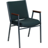 Flash Furniture HERCULES Series Heavy Duty Patterned Stack Chair with Arms Green - XU-60154-GN-GG