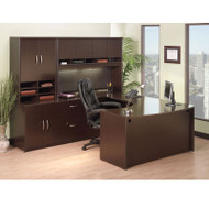 Bush Business Furniture Series C Package Executive U-Shaped Desk Mocha Cherry - MOCPackageD