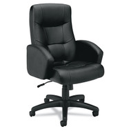 Basyx Black Vinyl Executive High-Back Chair - VL121EN11