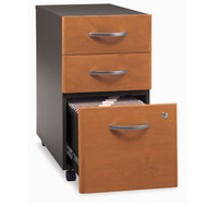 Bush Business Furniture Series C Mobile File Cabinet 3-Drawer Natural Cherry Assembled - WC72453SU