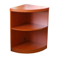 Mayline Aberdeen Bookcase Quarter Round 2-Shelf Cherry Finish - ABQ2-LCR