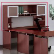 """Mayline Medina Laminate Desk Hutch 63"""" Mahogany - MNH63-MNPO-LMH"""