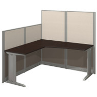 MONTHLY SPECIAL! Bush Furniture Office-in-an-Hour L Shaped Desk Workstation with Panels Mocha - WC36894-03K