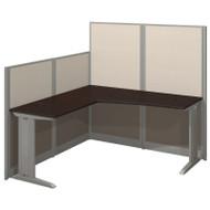 Bush Furniture Office-in-an-Hour L Shaped Desk Workstation with Panels Mocha - WC36894-03K
