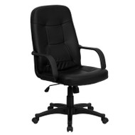 Flash Furniture High-Back Black Glove Vinyl Executive Office Chair - H8021-GG