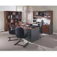 Bush Business Furniture Series C Package Executive U-Shaped Bowfront Desk Hansen Cherry - HCPackageC