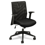 Basyx Black Mid-Back Work Chair with Mesh Back and Fabric Seat - VL571VB10