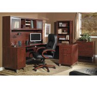 "Bush Somerset Collection L-Shaped Desk Package 71"" Hansen Cherry - Somerset1"