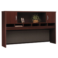 "Bush Business Furniture Series C Desk Hutch 2-Door 72"" Mahogany - WC36766K"