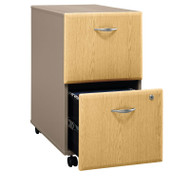 Bush Business Furniture Series A Mobile File Cabinet 2-Drawer Light Oak Assembled - WC64352PSU