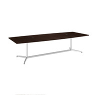 "Bush Business Furniture Boat-Shaped Conference Table with Metal Base 120""L x 48""W Mocha Cherry - 99TBM120MRSVK"