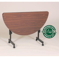 Correll High-Pressure Half Round FlipTop Table 48 - FT2448HR