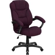 Flash Furniture High Back Grape Microfiber Contemporary Office Chair - GO-725-GRPE-GG