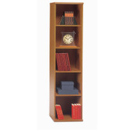 Bush Business Furniture Series C Bookcase 5-Shelf Open Single Natural Cherry - WC72412