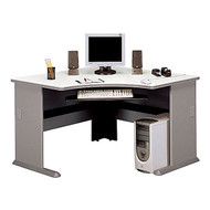 "Bush Business Furniture Series A Corner Desk 48"" Pewter - WC14566"