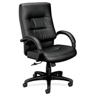 Basyx Black Leather Executive High-Back Chair - VL691SB11