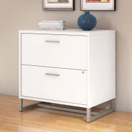 Kathy Ireland by Bush Method Collection 2-Drawer Lateral File ASSEMBLED White - KI70204SU