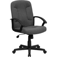 Flash Furniture Mid-Back Gray Fabric Executive Office Chair - GO-ST-6-GY-GG