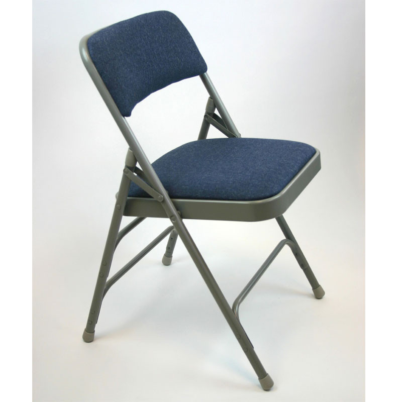 Wondrous Metal Folding Chair Set Of 4 With Fabric Seat And Back Act3000Af Ibusinesslaw Wood Chair Design Ideas Ibusinesslaworg