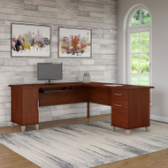 "Bush Somerset Collection L-Shaped Desk 71"" Hansen Cherry - WC81710K"