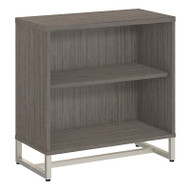 "Kathy Ireland by Bush Method Collection 2-Shelf Bookcase 30""H Cocoa - KI70105"