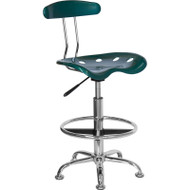 Flash Furniture Vibrant Green and Chrome Drafting / Bar Stool with Tractor Seat - LF-215-GREEN-GG