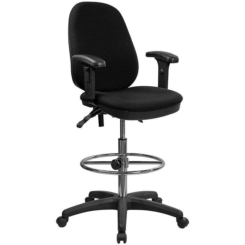 Magnificent Flash Furniture Ergonomic Multi Functional Triple Paddle Drafting Stool With Adjustable Foot Ring And Arms Kc B802M1Kg Arms Gg Gmtry Best Dining Table And Chair Ideas Images Gmtryco
