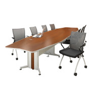 Mayline Transaction Series Conference Table 18' Boat Shaped - TAC18BB