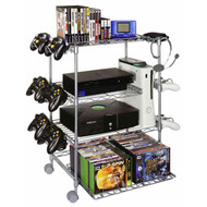 Atlantic Gamekeeper Wire 4 Tier Tower For Gaming Gear In Silver - 45506019