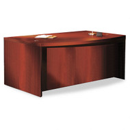 "Mayline Aberdeen Executive Desk Bowfront 72"" Cherry Finish - ABD7242-LCR"