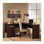 """Bush Buena Vista 60"""" L-Desk in Madison Cherry  - MY13830-3"""