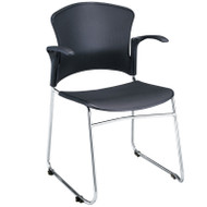 OFM MultiUse Plastic Chair With Arms ( PACK OF 4) - 310-PA