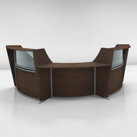 Monthly Special Ofm Marque Plexi Reception Station With Ada Desk 55310ada