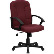 Flash Furniture Mid-Back Burgundy Fabric Executive Office Chair - GO-ST-6-BY-GG