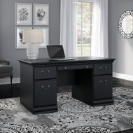 "Bush Birmingham Executive Collection 60"" Executive Desk Antique Black -  EX26928-03K"