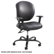 Safco Alday 24/7 Black Vinyl Task Chair - 3391BV